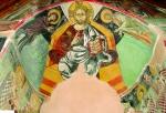 Роспись конхи апсиды. XVI век. Церковь Честного Креста в Агии Ирини.