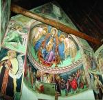 Росписи алтарного пространства. Итало-византийский стиль. XV век. Церковь  Пресвятой Богородицы Подиту в Галате.  Охраняется ЮНЕСКО.