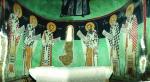 Изображения Отцов Церкви в апсиде. XVI век. Церковь Архангела Михаила в Галате.