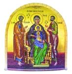 Мозаичное панно «Святая семья». Открытая галерея Киккского монастыря. Конец XX века.