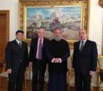 Встреча «Yianel» с Ахриепископом Кипра Хрисостомом I