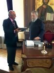 Вручение книг о Православной культуре Кипра Архиепископу Кипра и Новой Юстинианы Хрисостому