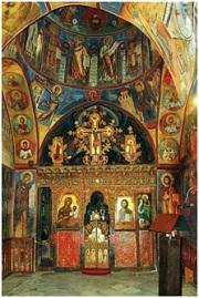 Интерьер крестово-купольного храма Пресвятой Богородицы Аракиотиссы XII в