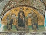 Богоматерь с Младенцем с предстоящими императорами Юстинианом и Константином. Южный вестибюль. Вторая половина Xвека