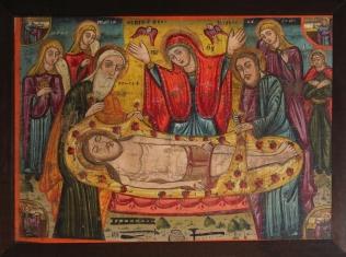 Икона Оплакивание, XIV в.