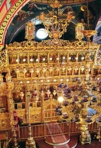 Иконостас главного храма Киккского монастыря