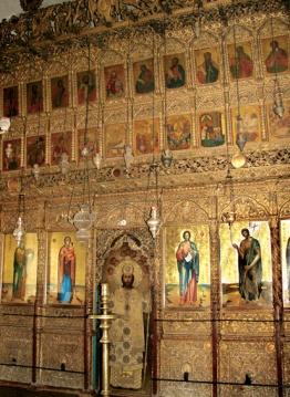 Иконостас храма монастыря Апостола Андрея