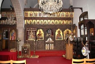 Интерьер церкви монастыря Агиа Мони