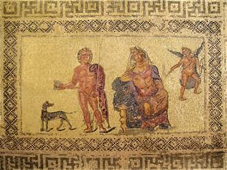 Ипполит и Федра, Мозаика