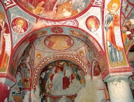 Роспись апсиды. Церковь Эльмалы, XI - XII в