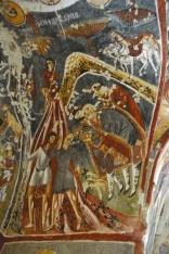 Фрагмент Рождества Христова. Скальная церковь Чарыклы. XI в