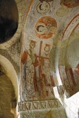 Фреска Равноапостольных Константина и Елены скальной церкви Святой Екатерины. XI в